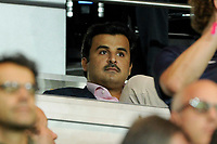 Owner of Paris Saint Germain Sheikh Tamim Ben Hamad Al Thani attends the French Championship Ligue 1 football match between Paris Saint Germain and Olympique Lyonnais on September 21, 2014 at Parc Des Princes stadium in Paris, France. Photo Jean Marie Hervio / Regamedia / DPPI