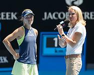 ANGELIQUE KERBER (GER) gibt TV Interview auf dem Platz, Rennae Stubbs,<br /> <br /> Tennis - Australian Open 2018 - Grand Slam / ATP / WTA -  Melbourne  Park - Melbourne - Victoria - Australia  - 24 January 2018.