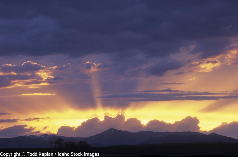 Idaho, near Sun Valley, sunset