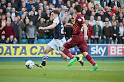 Milwall midfielder Ben Thompson bursts forward during the Sky Bet League 1 play-off second leg match between Millwall and Bradford City at The Den, London, England on 20 May 2016. Photo by Nigel Cole.