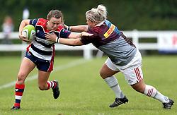 Cat McNaney of Bristol Ladies hands off a tackle - Mandatory by-line: Robbie Stephenson/JMP - 18/09/2016 - RUGBY - Cleve RFC - Bristol, England - Bristol Ladies Rugby v Aylesford Bulls Ladies - RFU Women's Premiership