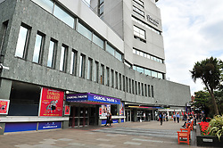 © Licensed to London News Pictures. 21/07/2016<br /> Churchill Theatre and Library building Bromley .<br /> Girl gang raped in a Bromley Park.<br /> <br /> Today (21.07.2016) police have released an appeal after a teenage girl was approaced by a group of men in their 20s in Church House Gardens next to the Churchill Theatre, Bromley, Greater London. The attack took place between 6PM AND 8PM on Sunday July 3rd  near the gazebo in the park. The victim was raped by more than one of the men.<br /> <br /> (Byline:Grant Falvey/LNP)