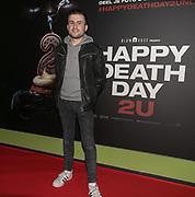 2019, Februari 12. Pathe de Munt, Amsterdam. Premiere van Happy Death Day 2U. Op de foto: Taco Snelleman