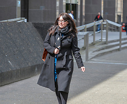 Former SNP MP Natalie McGarry leaves Glasgow Sheriff Court, where sentence was deferred for reports. She previously admitted embezzling more than £26,000 GBP from several independence campaign organisations.<br /> <br /> © Dave Johnston / EEm
