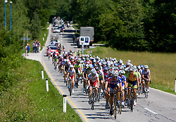 Peleton at 1st stage of Tour de Slovenie 2009 from Koper (SLO) to Villach (AUT),  229 km, on June 18 2009, in Koper, Slovenia. (Photo by Vid Ponikvar / Sportida)