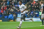 Bolton Midfielder Keshi Anderson celebrates making it 1-1 during the EFL Sky Bet League 1 match between Bolton Wanderers and Southend United at the Macron Stadium, Bolton, England on 3 September 2016. Photo by Pete Burns.