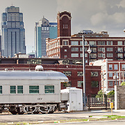Antique train behind Kansas City's Union Station
