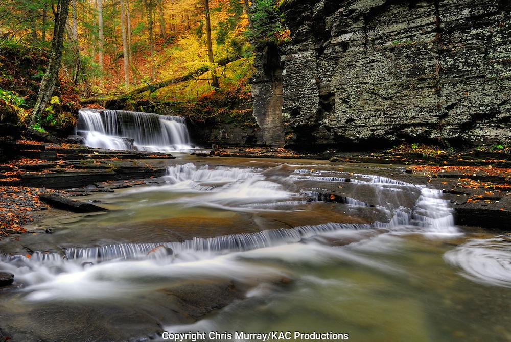 Upper Falls, Fillmore Glen State Park, New York, USA