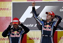 Motorsports / Formula 1: World Championship 2010, GP of Japan, 06 Mark Webber (AUS, Red Bull Racing),   05 Sebastian Vettel (GER, Red Bull Racing),