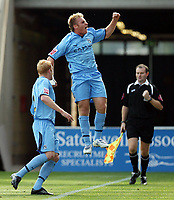 Photo: Rich Eaton.<br /> <br /> Coventry City v Norwich City. Coca Cola Championship. 09/09/2006. Chris Birchall of Coventry celebrates scoring the first goal of the game