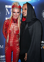 2017 MAXIM Halloween Party held at Los Angeles Center Studios on October 21, 2017 in Los Angeles, California. 21 Oct 2017 Pictured: Tara Reid, Ted Dhanik. Photo credit: IPA/MEGA TheMegaAgency.com +1 888 505 6342