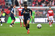 Tyler Roberts (11) of Leeds United on the attack during the EFL Sky Bet Championship match between Bristol City and Leeds United at Ashton Gate, Bristol, England on 9 March 2019.