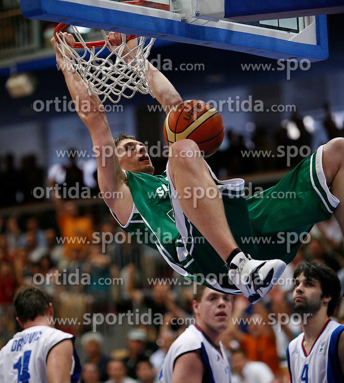Basketball player Gasper Vidmar of Slovenia, U21 European Championships, on July 6, 2007, Nova Gorica, Slovenia.  (Photo by Vid Ponikvar/Sportida)