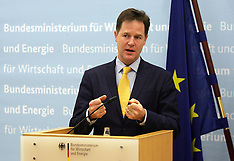 NOV 26 2014 British Deputy PM Nick Clegg In Berlin For Talks