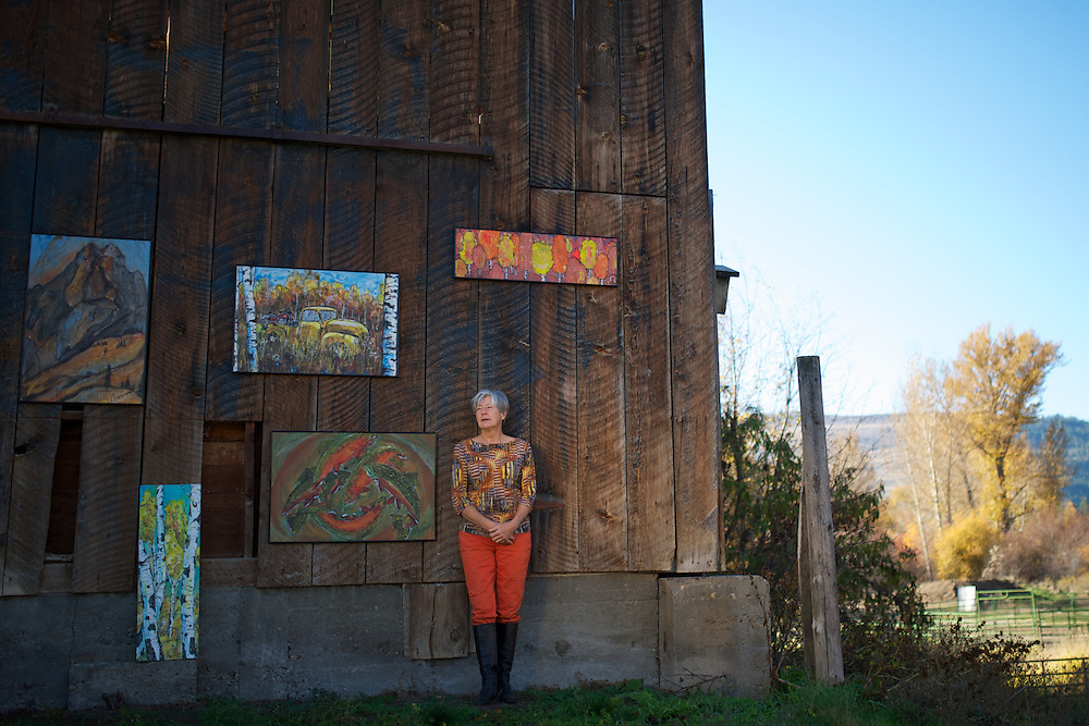 Ginger Reddington - Methow Arts Alliance Winter cover 2013-14