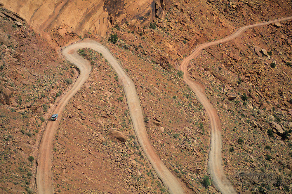 Shafer Trail Road into Shafer Canyon, Island in the Sky District, Canyonlands National Park, UTAH