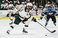 during the men's hockey game between eh Maine Black Bears and the Vermont Catamounts at Gutterson Field House on Friday night November 18, 2016 in Burlington. (BRIAN JENKINS/for the FREE PRESS)