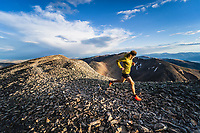 Joe Grant hits the summit of Mount Sheridan, Leadville, Colorado.