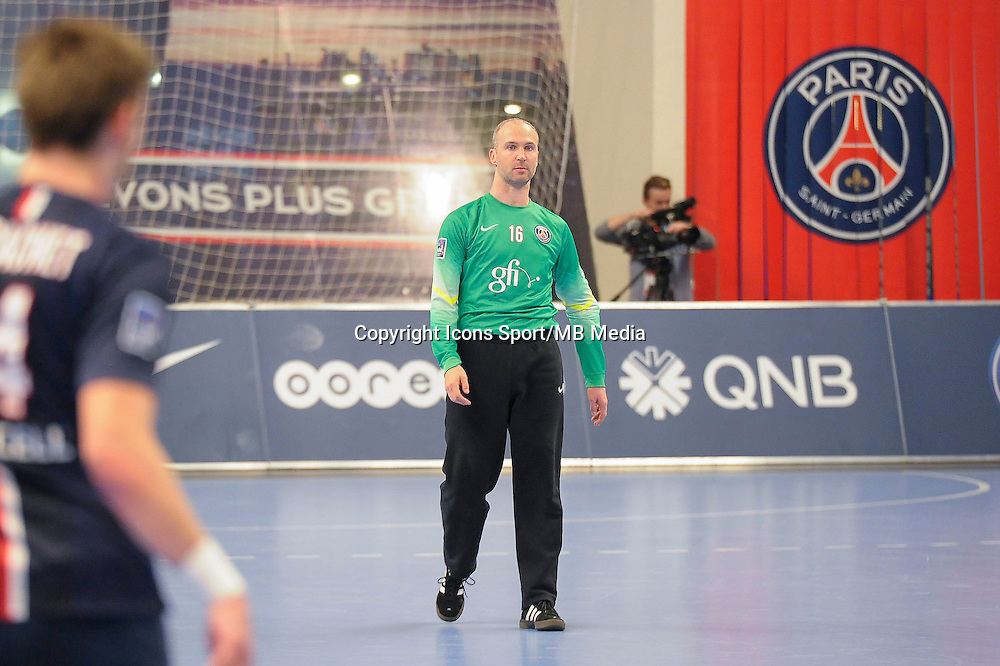 Thierry Omeyer - 03.12.2014 - PSG / Montpellier - 12eme journee de D1<br />