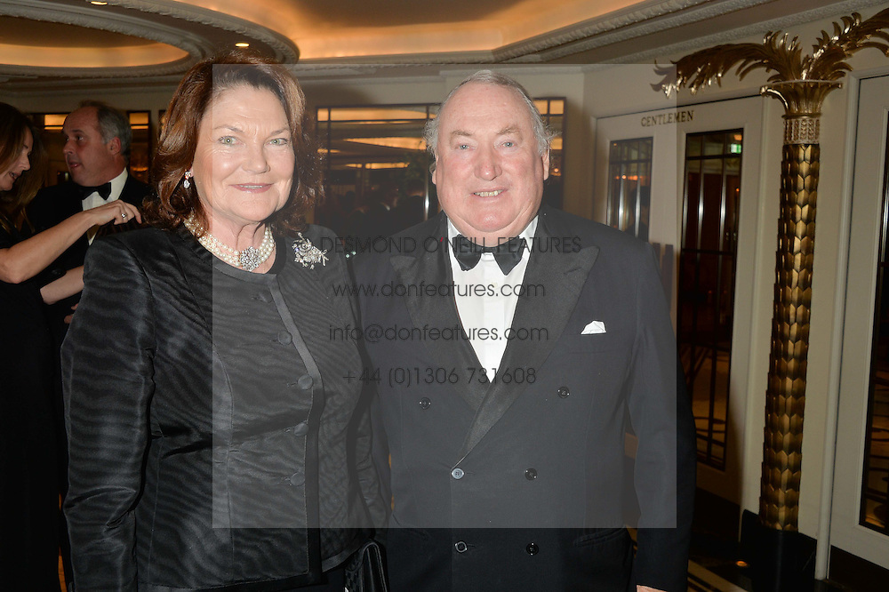 ANTHONY & ANTOINETTE OPPENHEIMER at the 24th Cartier Racing Awards held at The Dorchester, Park Lane, London on 11th November 2014.