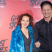 NLD/Amsterdam/20191031 - Ghost Stories premiere, Joep Onderdelinden en vriendin Els de Schepper