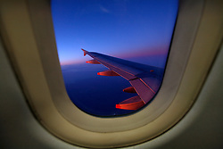 GERMANY NIEDERSACHSEN 30JAN13 - View of the portside wing of a British Airways Airbus A319 passenger jet en route to Hamburg, Germany...jre/Photo by Jiri Rezac....© Jiri Rezac 2013