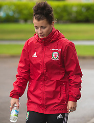 CARDIFF, WALES - Friday, August 19, 2016: Wales' Angharad James during a pre-match walk at the Vale Resort ahead of the international friendly match against Republic of Ireland. (Pic by Laura Malkin/Propaganda)