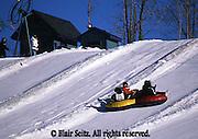 Outdoor recreation, Skiing, ski slopes, downhill skiing Snow Tubing slope, Poconos, PA