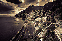 &ldquo;Ominous evening clouds above Positano - BW&rdquo;&hellip;<br />