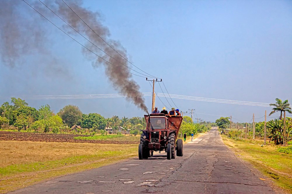 Tractor near Media Luna, Granma, Cuba.