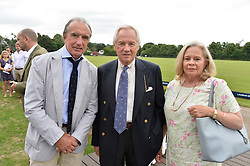 Hugo Porta, Nicholas Colquhoun-Denvers and Annie Colquhoun-Denvers  at the Laureus King Power Cup polo match held at Ham Polo Club, Richmond, London England. 22 June 2017.<br /> Photo by Dominic O'Neill/SilverHub 0203 174 1069 sales@silverhubmedia.com