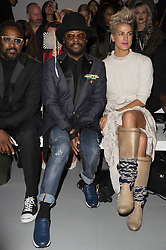 © Licensed to London News Pictures. 17/09/2016.  WILL.I.AM attends the GARETH PUGH Spring/Summer 2017 show. Models, buyers, celebrities and the stylish descend upon London Fashion Week for the Spring/Summer 2017 clothes collection shows. London, UK. Photo credit: Ray Tang/LNP