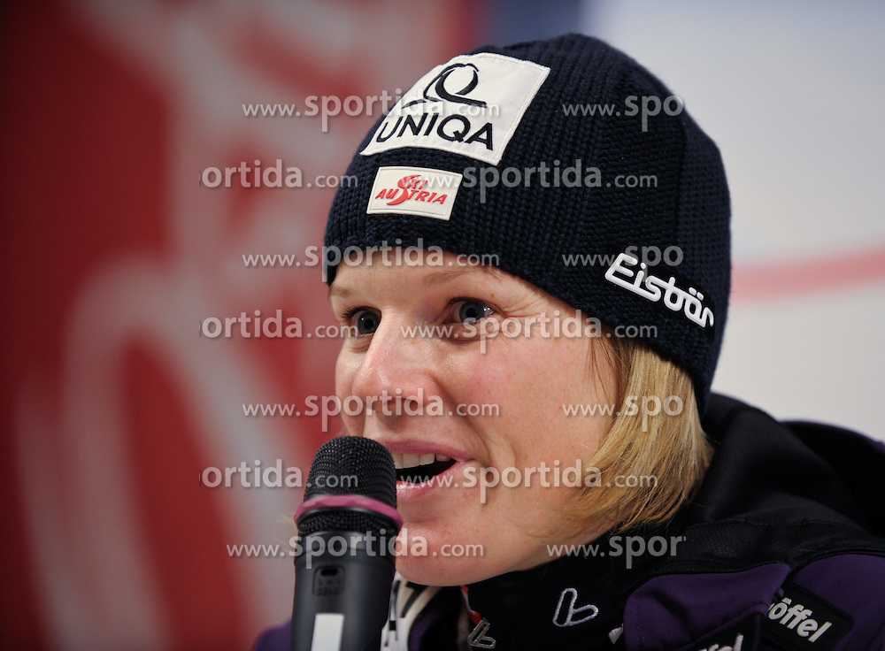 29.12.2011, Hochstein Weltcupstrecke, Lienz, AUT, FIS Weltcup Ski Alpin, Damen, Slalom, Pressekonferenz, im Bild Marlies Schild AUT// during the Press Conference at FIS Ski Worldcup at Worldcupcourse Hochstein in Lienz, 29-12-2011, EXPA Pictures © 2011, PhotoCredit: EXPA/ M. Gruber