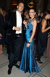 Model LIBERTY ROSS and her husband RUPERT SAUNDERS at the 2005 British Fashion Awards held at The V&A museum, London on 10th November 2005.<br />
