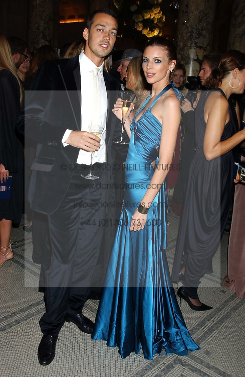 Model LIBERTY ROSS and her husband RUPERT SAUNDERS at the 2005 British Fashion Awards held at The V&amp;A museum, London on 10th November 2005.<br /><br />NON EXCLUSIVE - WORLD RIGHTS