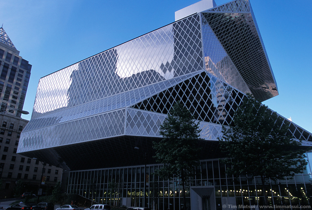The Central Branch of the Seattle Public Library System designed by architect Rem Koolhaas.