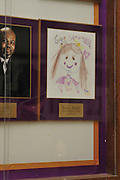 "Pictured is a crayon portrait of Actress Sandra Bullock in a display case, where a photo should be, at the Warren Easton Charter high school in New Orleans Louisiana. The display case hold photographs of individuals who have helped the school and are ""honorary friends"" of the school. Bullock was at the school Aug. 29,2010 on the 5th year anniversary of Hurricane Katrina to cut a ribbon at the opening of the health clinic. Photo©Suzi Altman"