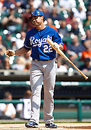April 14, 2010:  Kansas City Royals' Scott Podsednik (22) during the MLB baseball game between the Kansas City Royals vs Detroit Tigers at  Comerica Park in Detroit, Michigan.