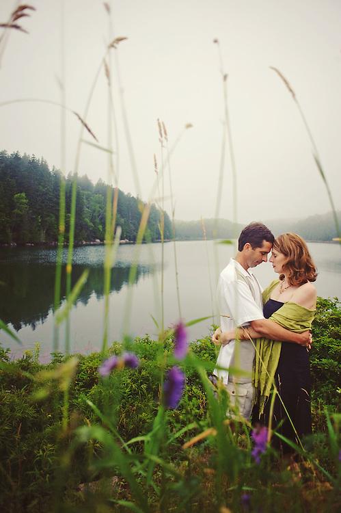 Acadia National Park engagement session.  Image by Maine Wedding Photographer, Puerto Vallarta Wedding Photographer, New York City Wedding Photographer and Philadelphia Wedding Photographer Michelle Turner.