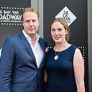 NLD/Amsterdam/20150604 - Premiere In de Ban van Broadway, Ferdi Stofmeel en partner