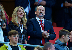 LIVERPOOL, ENGLAND - Wednesday, August 23, 2017: Liverpool's chief executive officer Peter Moore and his wife during the UEFA Champions League Play-Off 2nd Leg match between Liverpool and TSG 1899 Hoffenheim at Anfield. (Pic by David Rawcliffe/Propaganda)