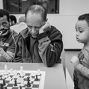 A real sense of community attracts more people every weekend. For Eritreans shoe just arrived in Montreal, the community centre is an oasis where they can speak tigryna and have a taste of their hometown. (Oscar Aguirre, 2016)