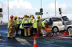 Auckland-Multiple car accident Lambie Drive, Manukau