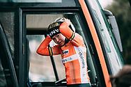 Anna Van Der Breggen (NED / Boels Dolmans) before the start of the Strade Bianche 2018<br /> <br /> Photo: Francesco Rachello / Tornanti.cc