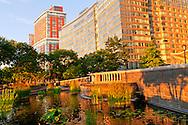 Fountain, Hudson RIver Park, Battery Park CIty, Manhattan, New York City, New York, USAManhattan, New York City, New York, USA