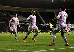 Daniel Williams of Reading celebrates scoring his sides opening goal and equaliser - Mandatory byline: Robbie Stephenson/JMP - 12/01/2016 - FOOTBALL - iPro Stadium - Derby, England - Derby County v Reading - Sky Bet Championship