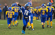 Salisbury Mills, New York  - Washingtonville Gold plays Middletown in an Orange County Youth Football Leauge Division I playoff game at Lasser Field on Sunday, Nov. 3, 2013.