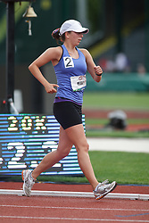 Olympic Trials Eugene 2012: women's 20,000 meter race walk, Miranda Melville, 2nd place