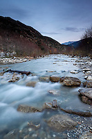 East Fork San Gabriel River in Winter, Angeles National Forest, California