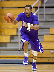 December 29, 2009; Berkeley, CA, USA;  Furman Paladins guard Darryl Evans (5) during the first half against the Utah Valley Wolverines at the Haas Pavilion.  Furman defeated Utah Valley 77-69.